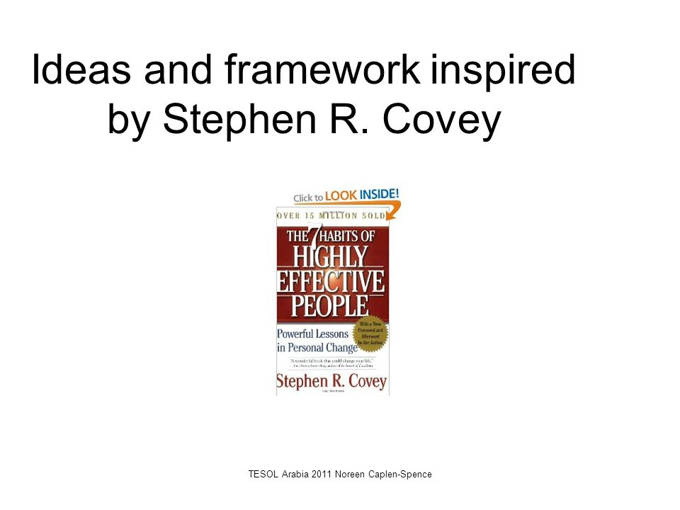 Ideas and framework inspired by Stephen R. Covey