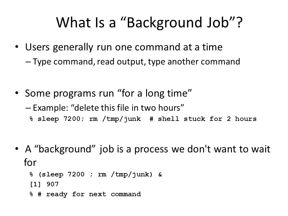 What Is a Background Job