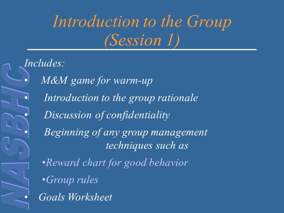 Introduction to the Group (Session 1)