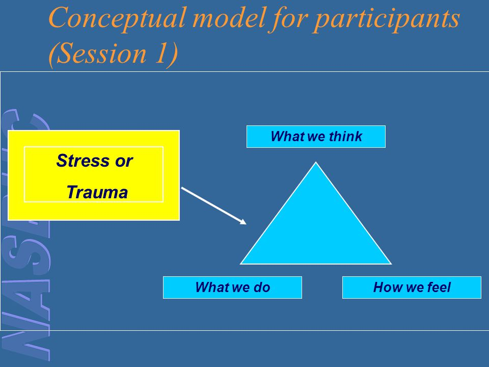Conceptual model for participants (Session 1)