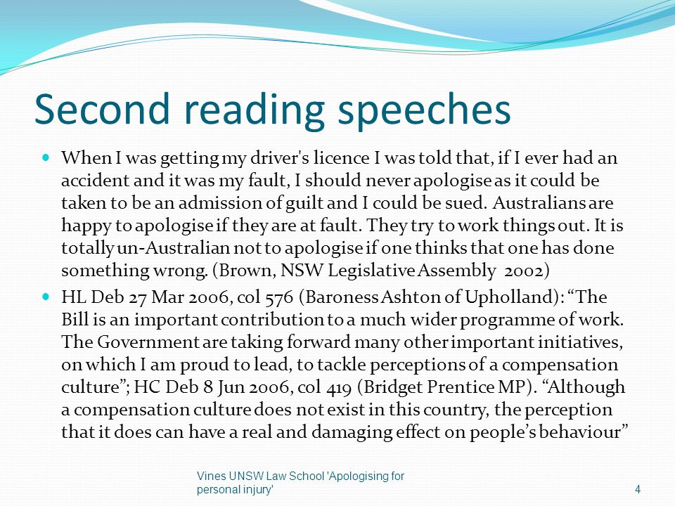 Second reading speeches