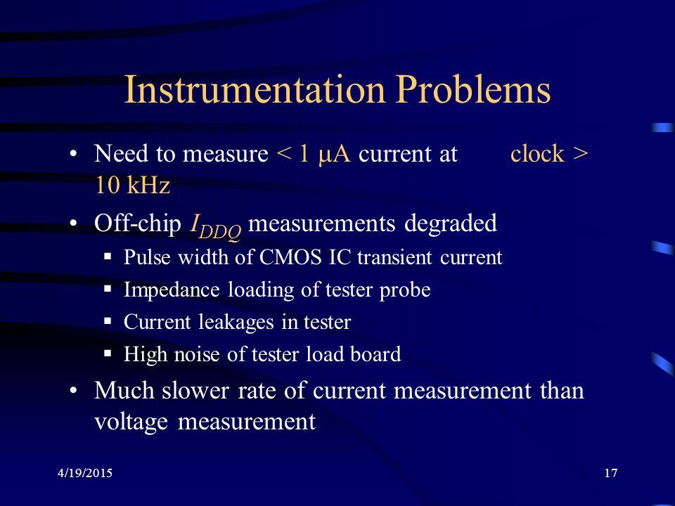 Instrumentation Problems