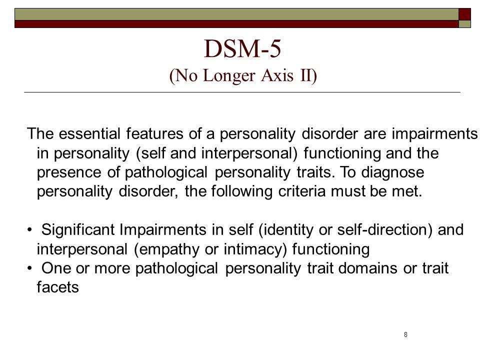 DSM-5 (No Longer Axis II)