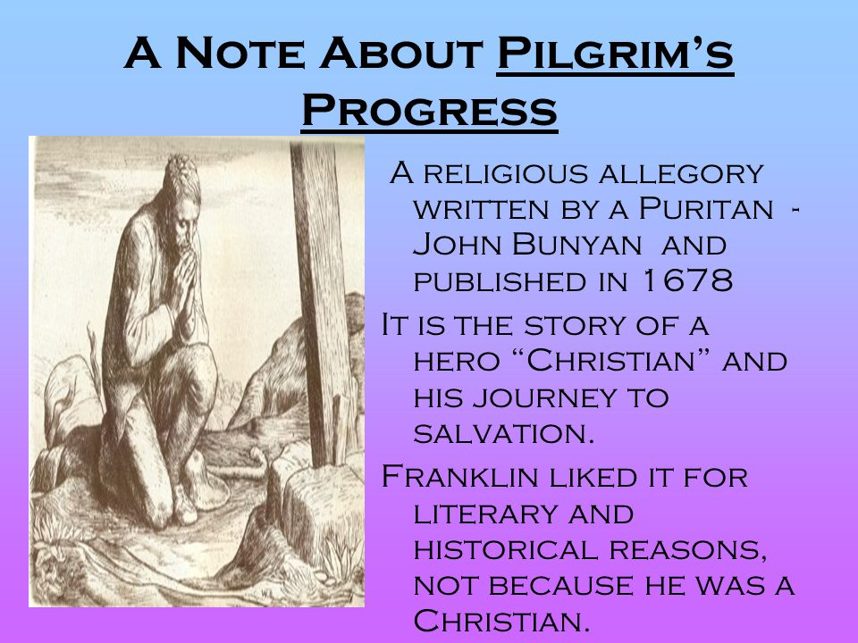 A Note About Pilgrim's Progress