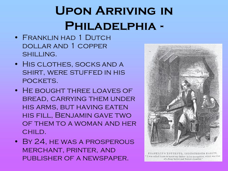 Upon Arriving in Philadelphia -