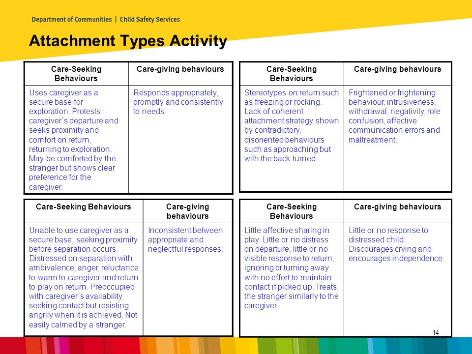 Attachment Types Activity