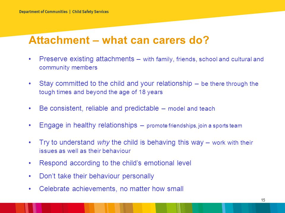 Attachment – what can carers do