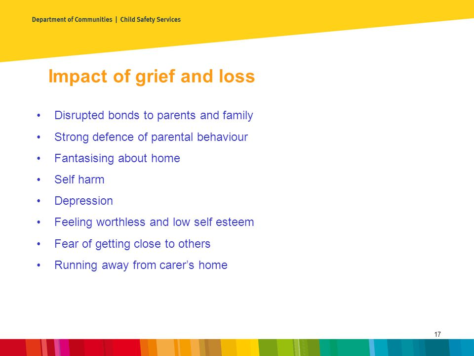 Impact of grief and loss