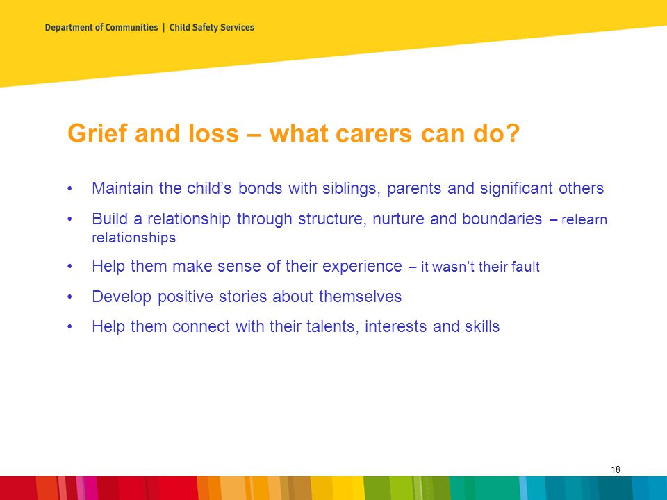 Grief and loss – what carers can do