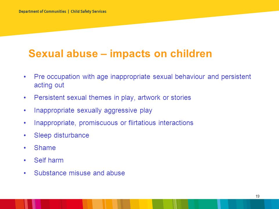 Sexual abuse – impacts on children