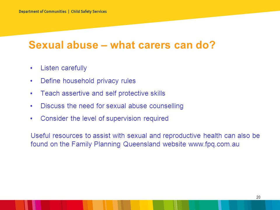 Sexual abuse – what carers can do