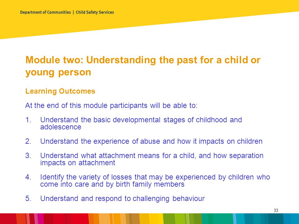 Module two: Understanding the past for a child or young person