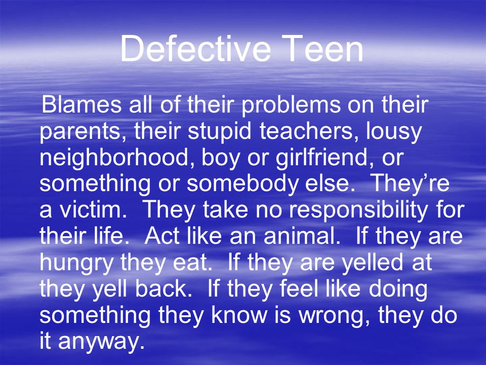Defective Teen