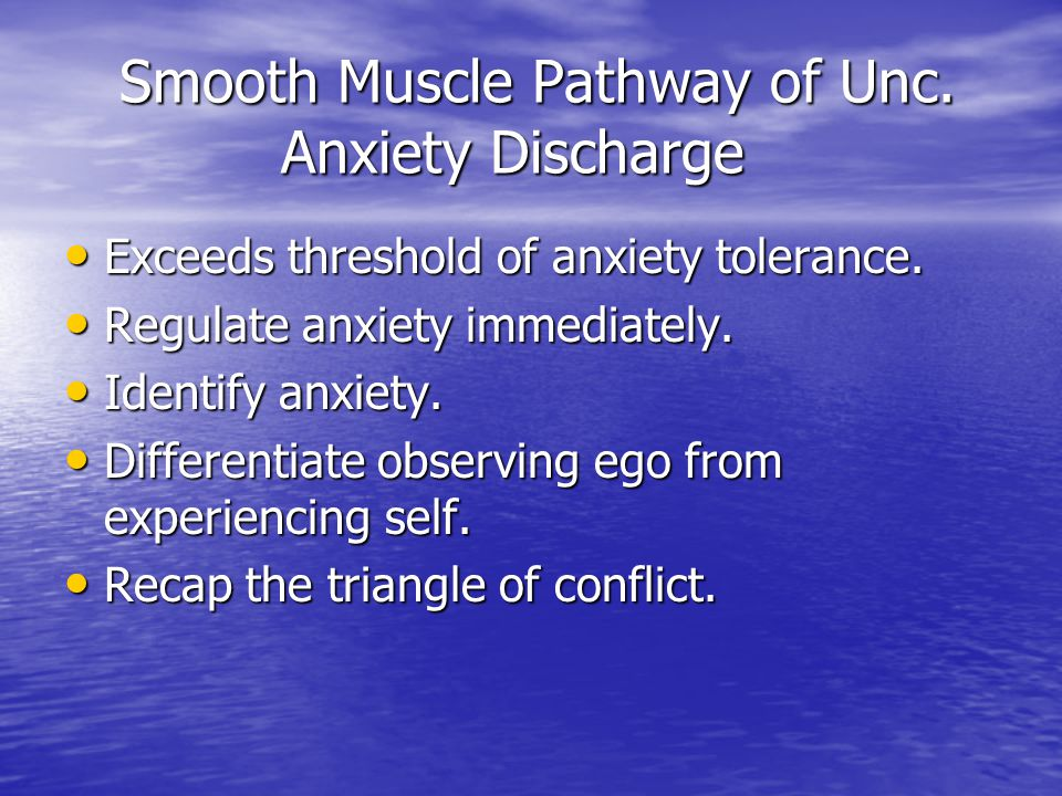 Smooth Muscle Pathway of Unc. Anxiety Discharge