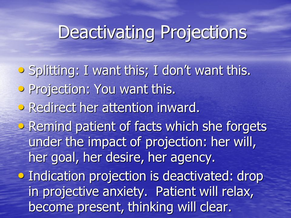 Deactivating Projections