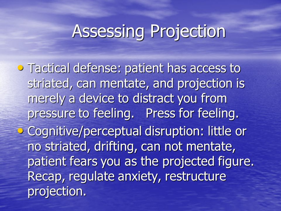 Assessing Projection