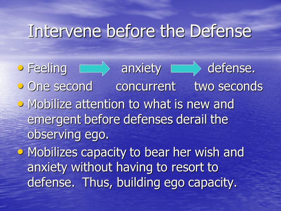 Intervene before the Defense