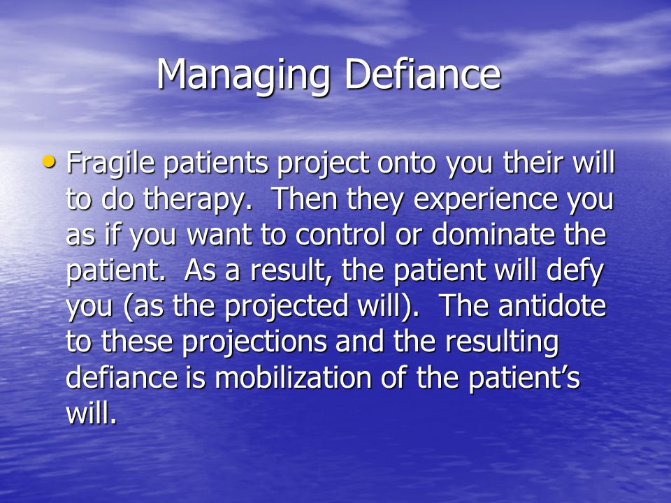 Managing Defiance
