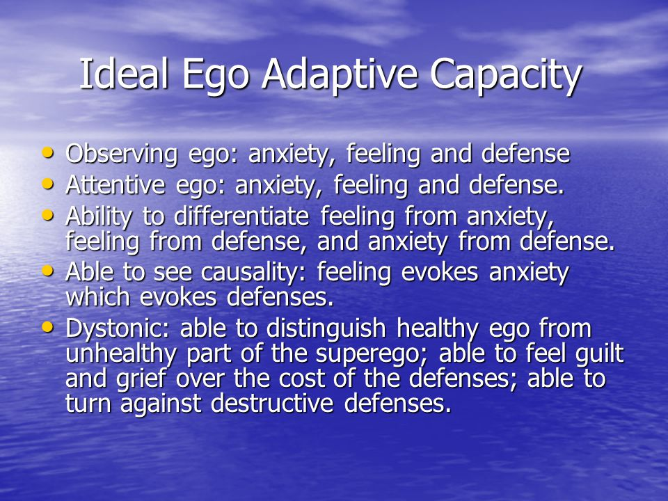 Ideal Ego Adaptive Capacity