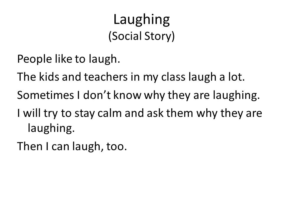 Laughing (Social Story)
