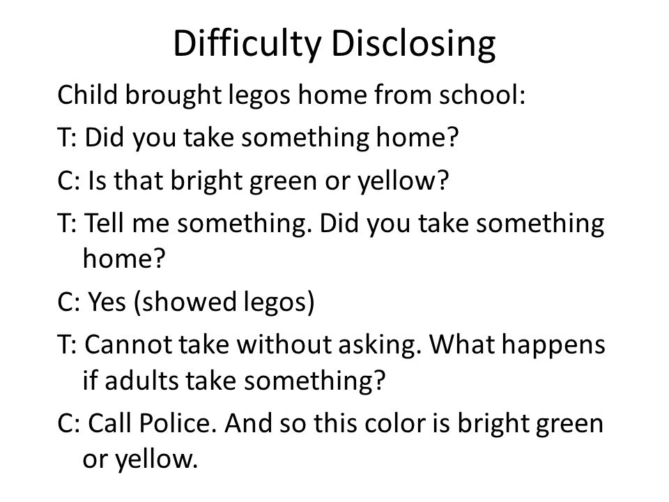 Difficulty Disclosing