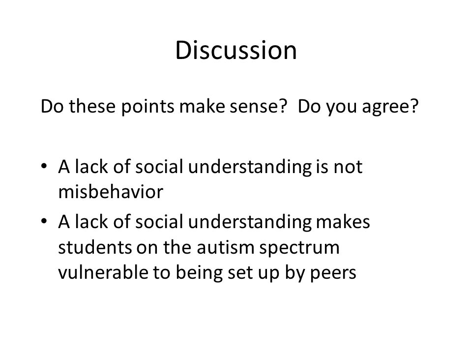 Discussion Do these points make sense Do you agree