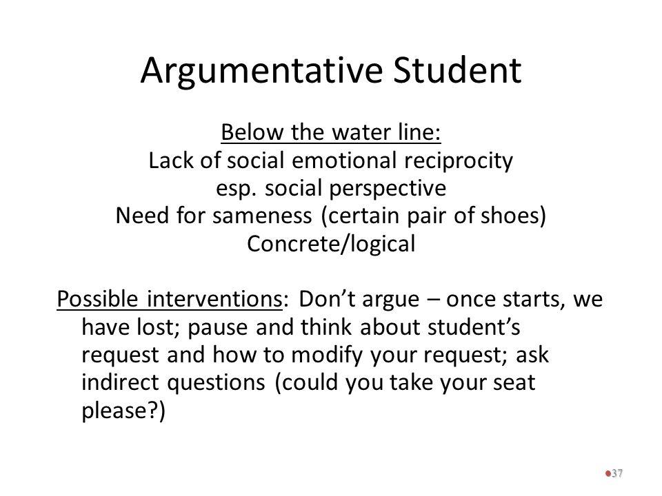 Argumentative Student
