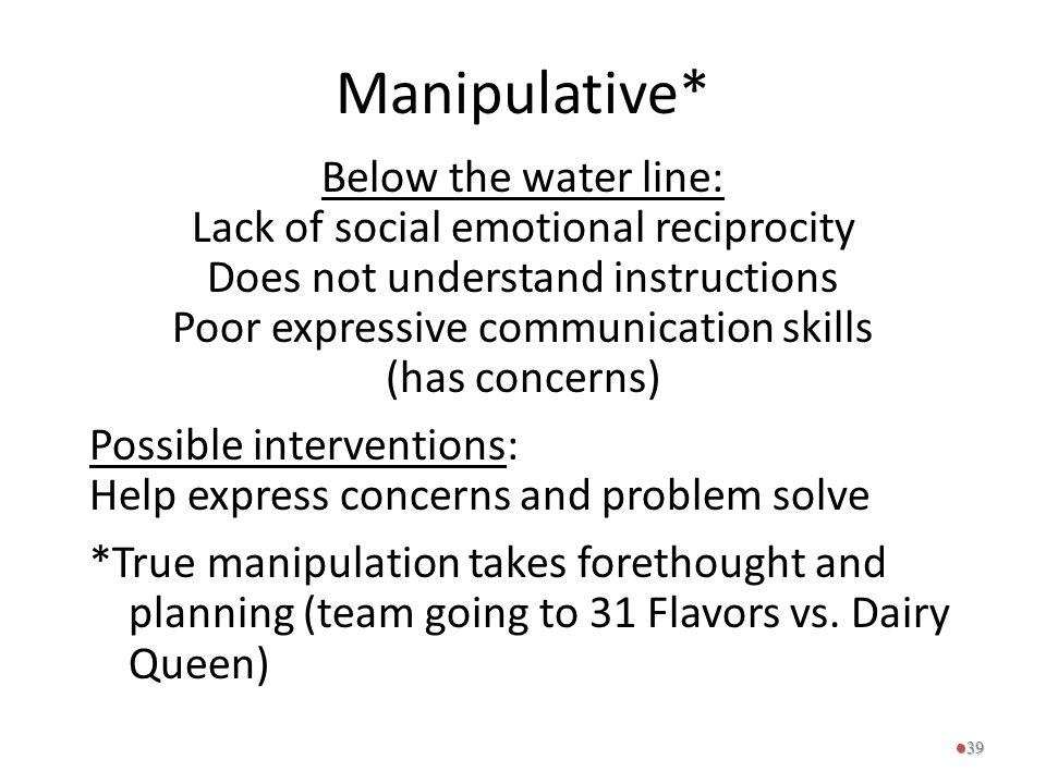 Manipulative*