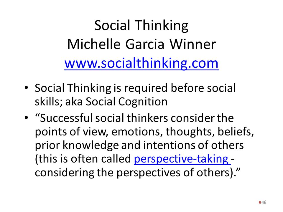 Social Thinking Michelle Garcia Winner www.socialthinking.com