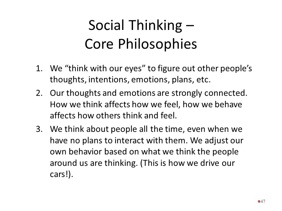 Social Thinking – Core Philosophies