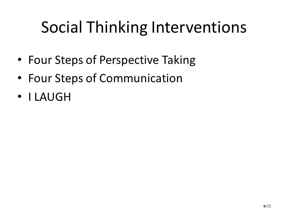 Social Thinking Interventions