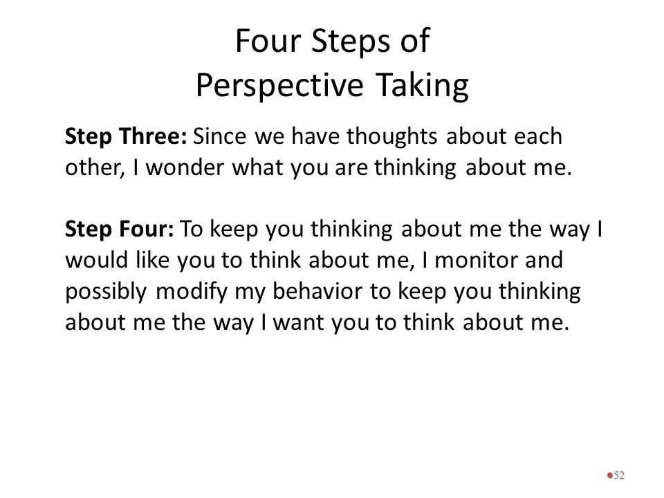 Four Steps of Perspective Taking