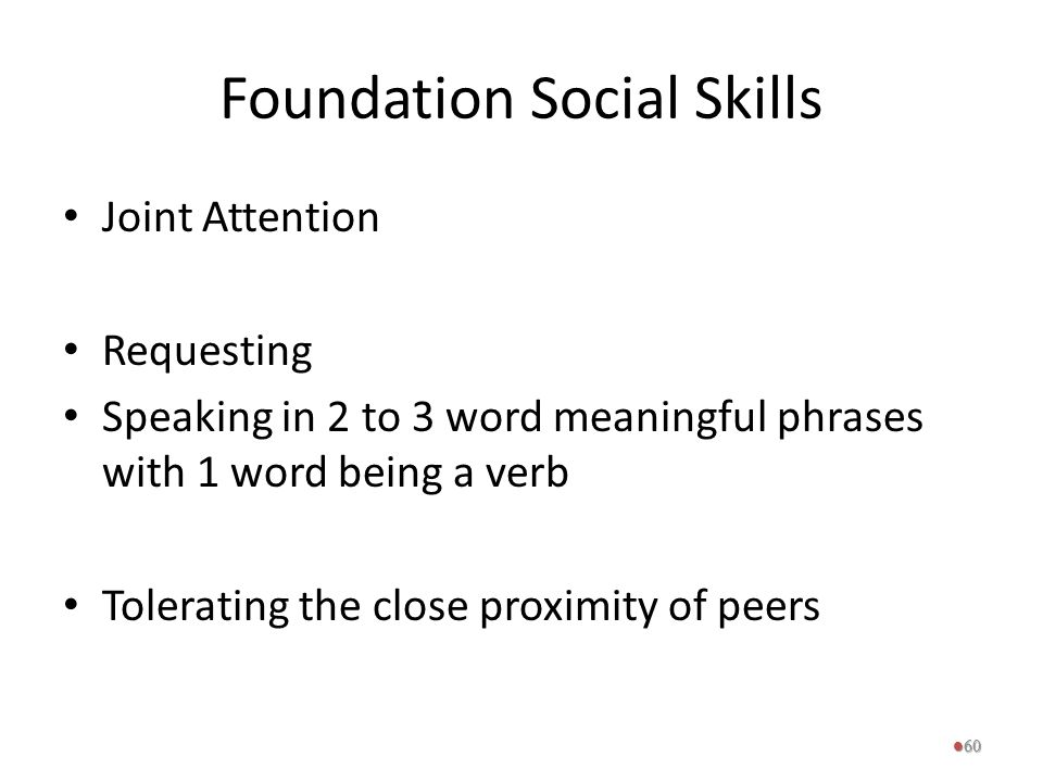Foundation Social Skills