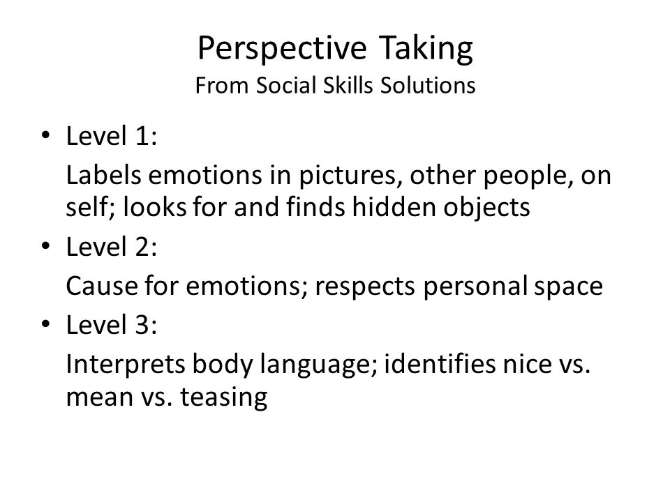 Perspective Taking From Social Skills Solutions