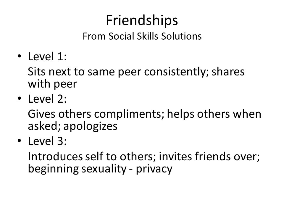 Friendships From Social Skills Solutions