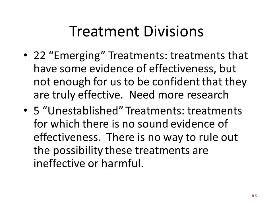 Treatment Divisions
