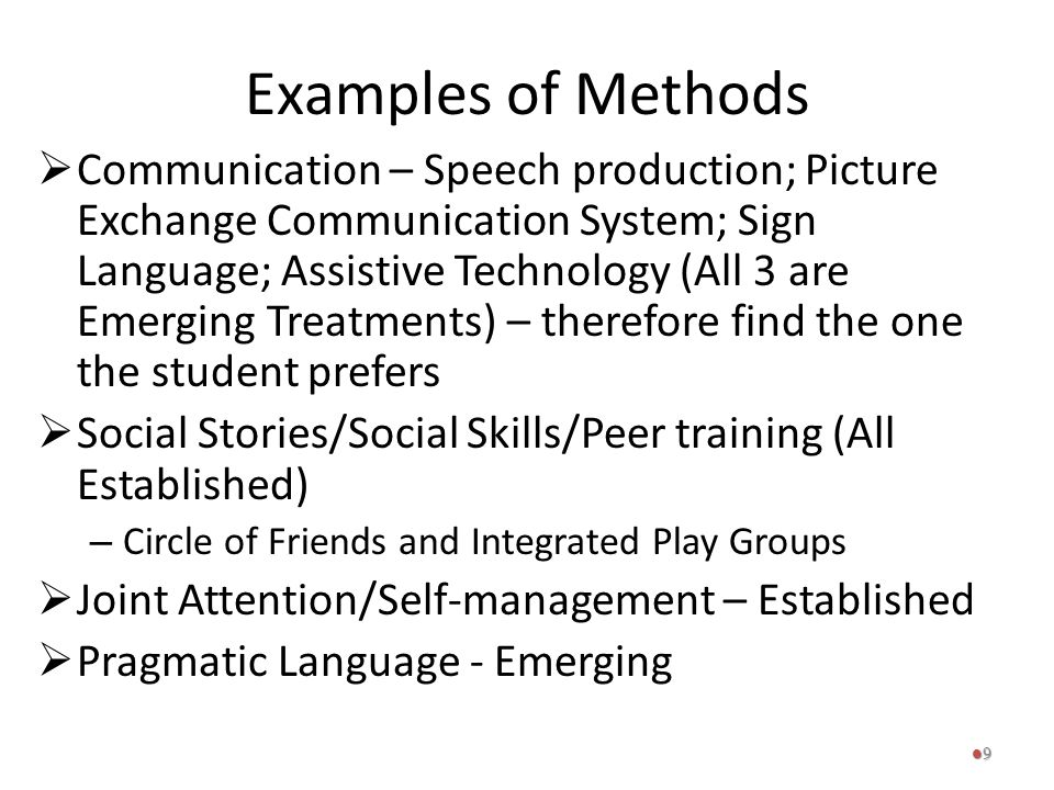 Examples of Methods
