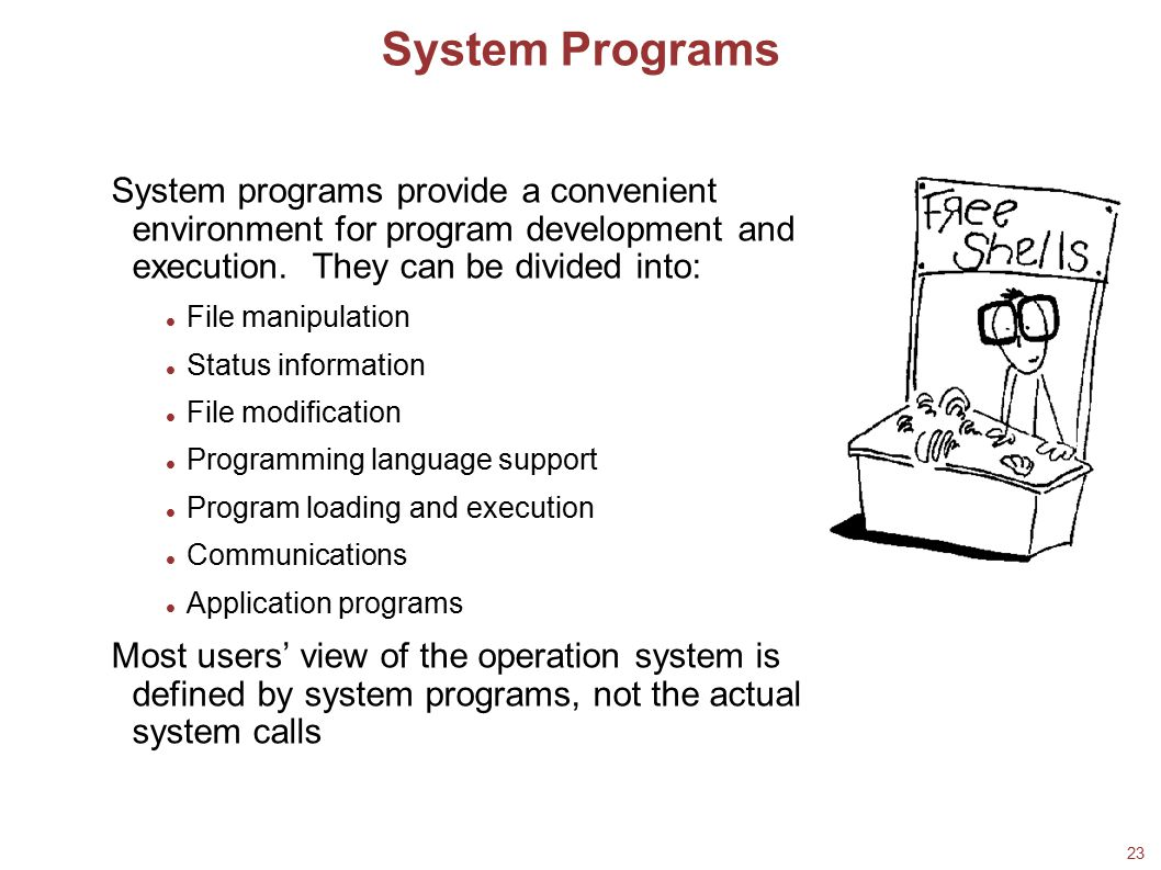 System Programs 21/02/08. 18/02/08.