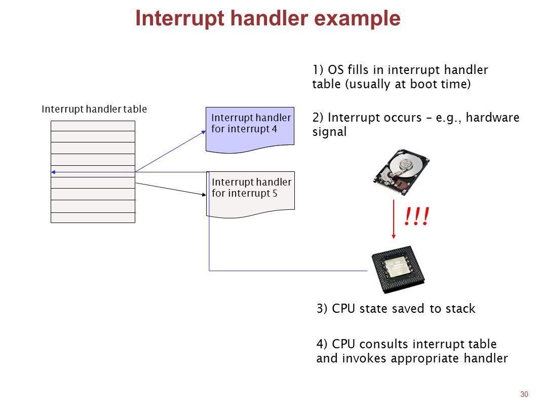 Interrupt handler example