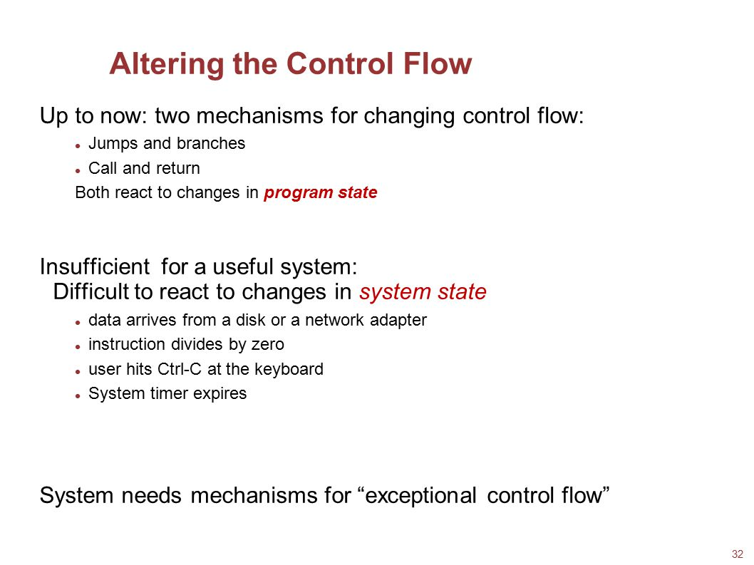 Altering the Control Flow