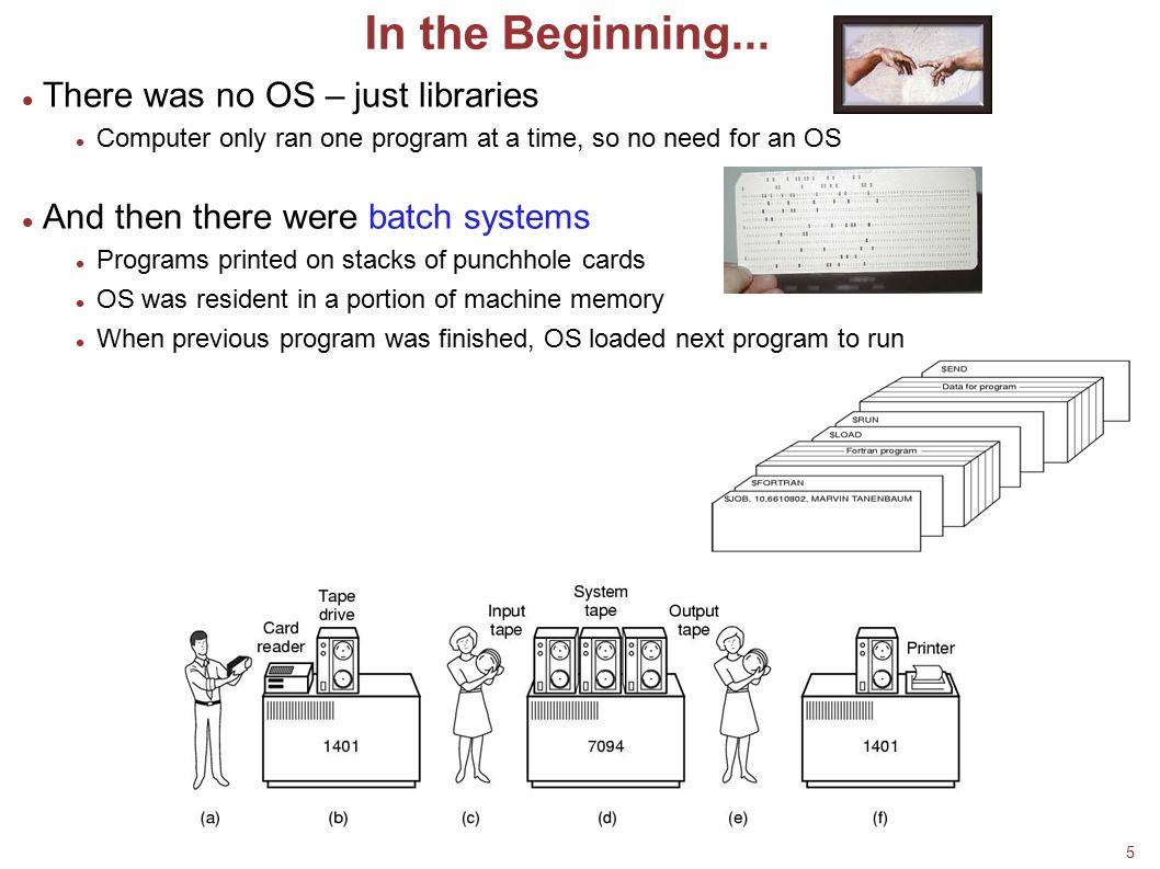 In the Beginning... There was no OS – just libraries