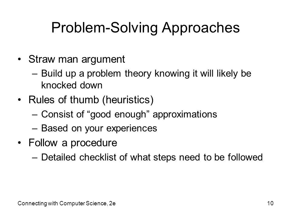 Problem-Solving Approaches