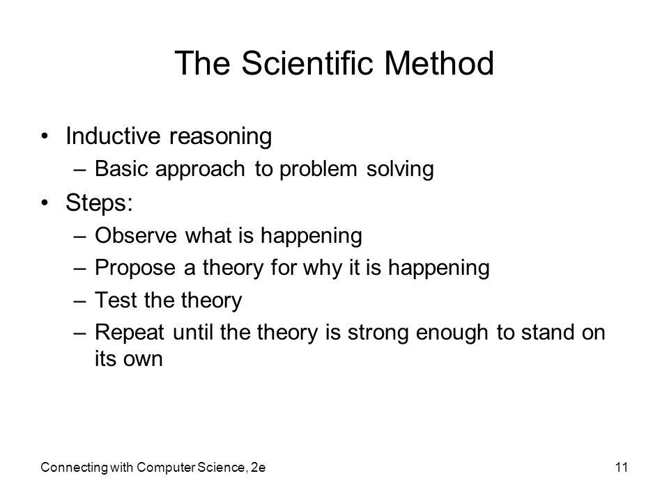 The Scientific Method Inductive reasoning Steps: