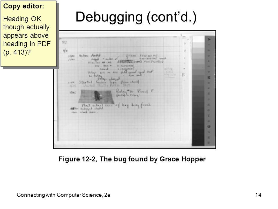 Debugging (cont'd.) Copy editor: