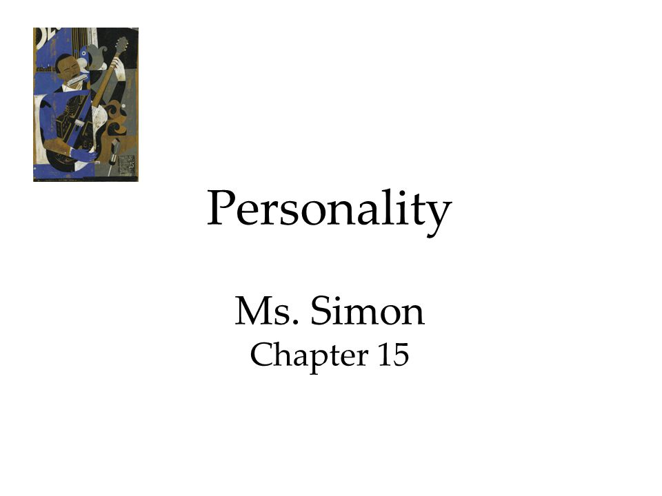 Personality Ms. Simon Chapter 15