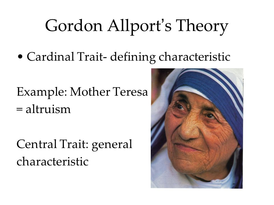 Gordon Allport's Theory