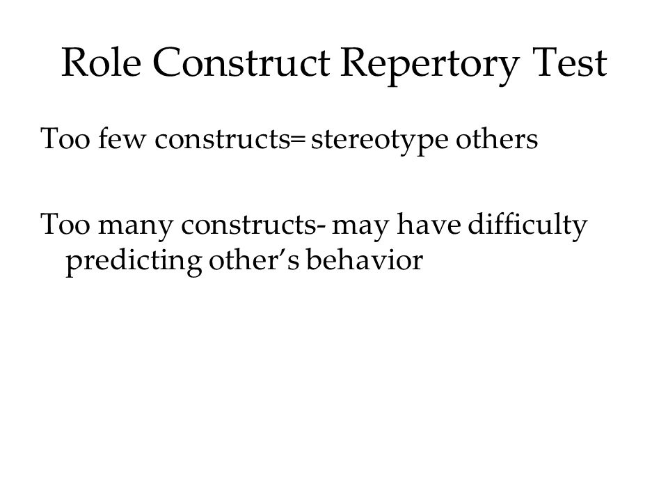 Role Construct Repertory Test