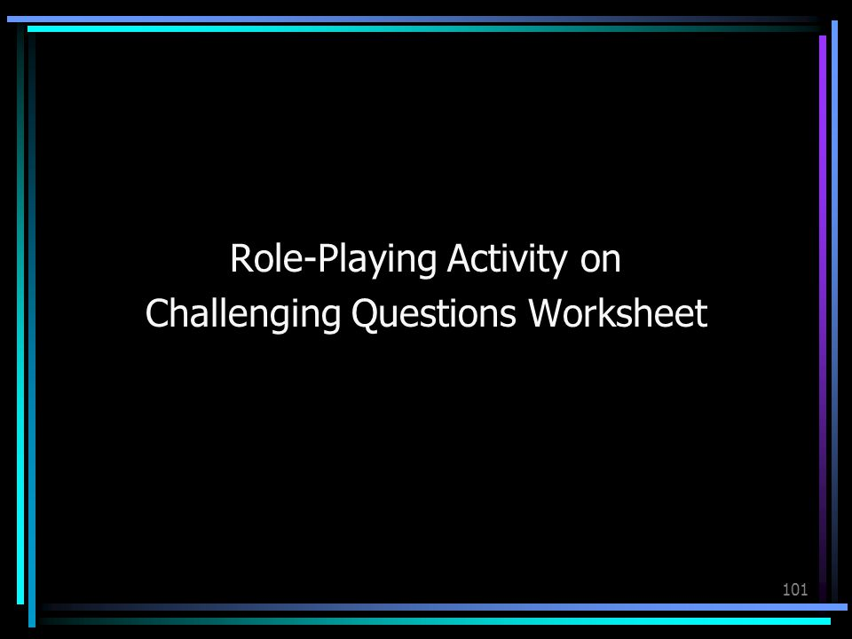 Role-Playing Activity on Challenging Questions Worksheet