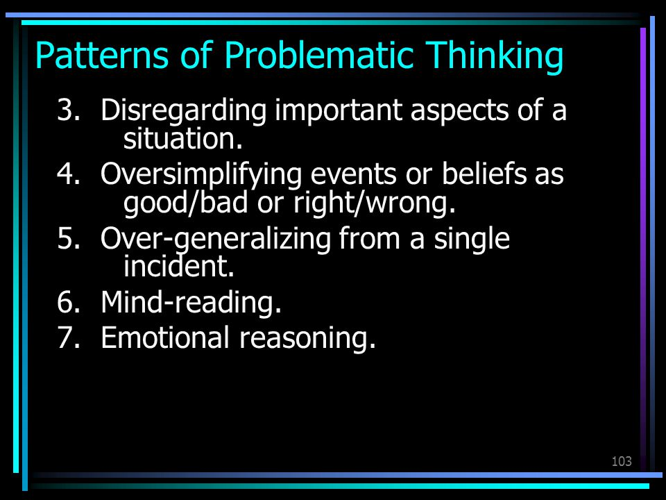 Patterns of Problematic Thinking