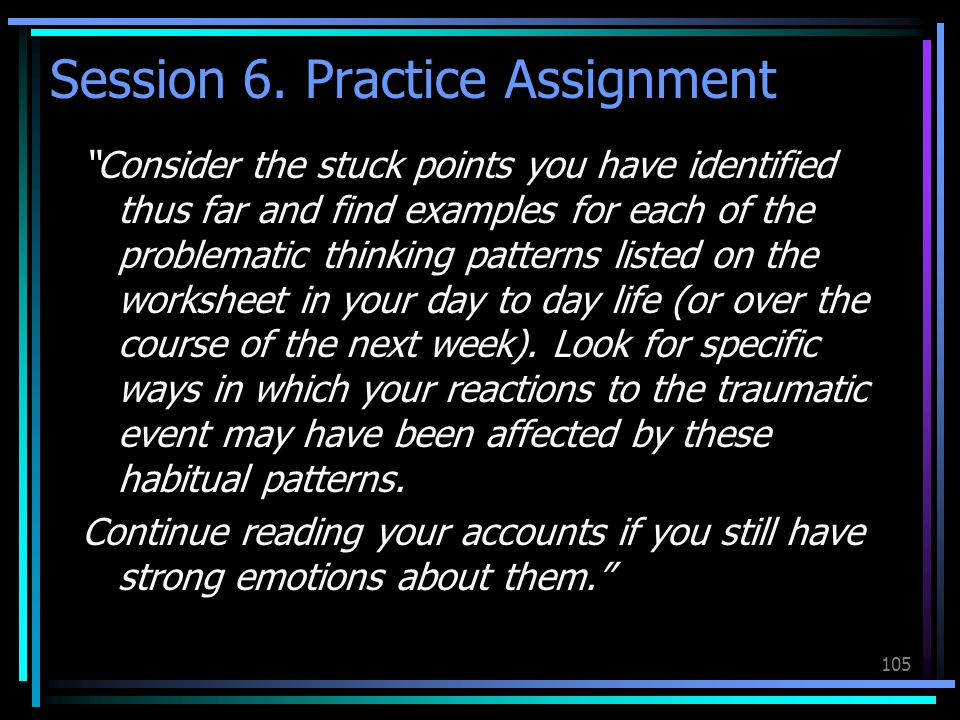 Session 6. Practice Assignment